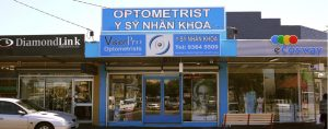 shopfront of VisionPro Optometrist